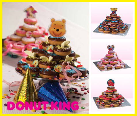 Only $25 for a Children\'s Themed Donut King Birthday Cake (Normally $50, Discount 50%)