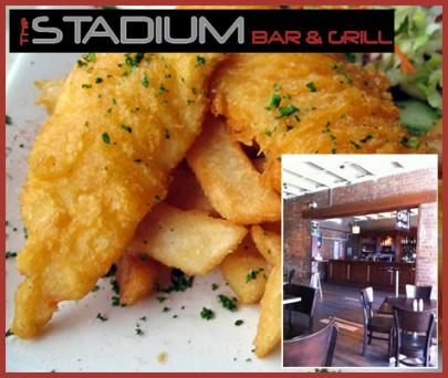 For just $29, Delight in a Huge Seafood Basket and Drinks for Two People at Stadium Bar and Grill on iconic Caxton Street. (Normally $99, Discount 71%)