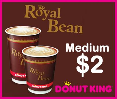 Just $2 for a Medium Coffee at Donut King (Discount 50%)